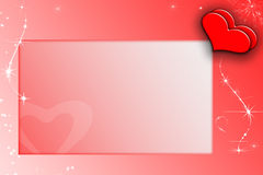 Framework valentines Royalty Free Stock Images
