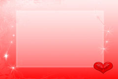 Framework valentines Royalty Free Stock Photography