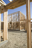 Framework Of Wooden House Stock Photography