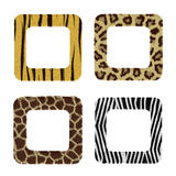 Frameworks From Fur Of Wild Animals. Royalty Free Stock Images