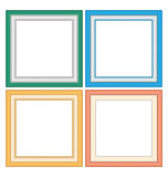 Frameworks in pastel colors Royalty Free Stock Photography