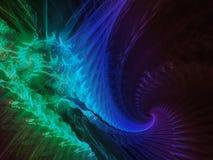 framför abstrakt digitalt mode för fractalen biträdande vetenskapsdrömsammansättning stock illustrationer