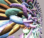 framför abstrakt färgrikt 3d Royaltyfri Fotografi