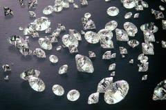 Framför av diamanter 3d med mörk bakgrund Royaltyfria Foton