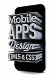 Mobil appsdesign royaltyfri illustrationer