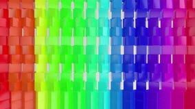Framför av geometrisk abstrakt bakgrund 3D stock video