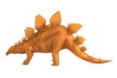 Framför av stegosaurus royaltyfri illustrationer