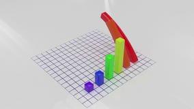Framför av växande graf för stång 3D stock video