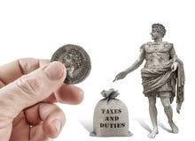 Framför därför till Caesar saker som är Caesar ` s Royaltyfri Fotografi