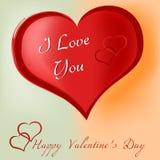 framför dagen detailed hjärta 3d s-valentinen Arkivfoton