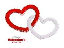 framför dagen detailed hjärta 3d s-valentinen Royaltyfri Foto