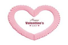 framför dagen detailed hjärta 3d s-valentinen Arkivfoto