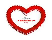 framför dagen detailed hjärta 3d s-valentinen Royaltyfri Fotografi