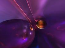 framför den abstrakt färgrika glansiga purplen 3d blankt vektor illustrationer
