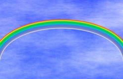 framför den blåa regnbågen för begreppet 3d skyen Arkivbild