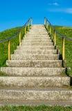 framför den höga isolerade stegen för karriären 3d upplösning vit Fotografering för Bildbyråer