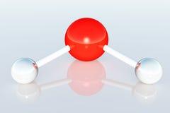 framför den komplicerade molekylen för atomen 3d strukturen Arkivbilder