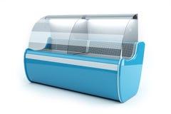 framför det blåa kylskåp 3d Royaltyfria Bilder