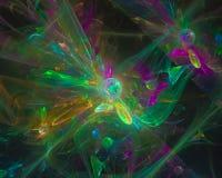 Framför härligt färgrikt för abstrakt digital ljus stildesign för fractal, rörelse, explosion royaltyfri illustrationer