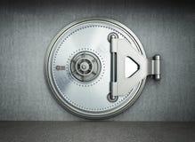 Framför hög upplösning 3d för stor säker dörrbakgrund Arkivbild