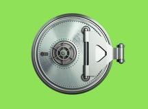Framför hög upplösning 3d för stor säker dörrbakgrund på G Arkivfoton