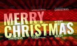Framför röd bakgrund 3d för glad jul Arkivfoton