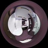 Framför sfärisk panorama 360 av badruminre Royaltyfria Bilder