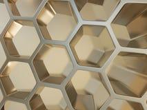 Framförande av nano bakgrund för abstrakt metall Royaltyfri Bild