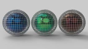 framförande 3d abstrakt former 3d Fotografering för Bildbyråer