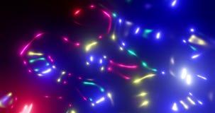 framförande 3d Desintegrera plasma i röda och blåa färger En stor explosion i utrymme Elektrisk båge i vakuum lager videofilmer