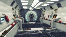 framförande 3d futuristic interior Arkivfoto