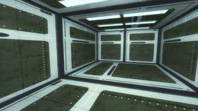 framförande 3d futuristic interior för arkitektur Royaltyfri Bild