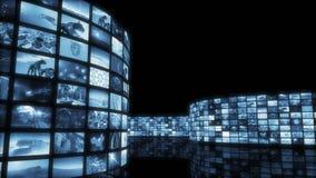 framförande 3d Glamorös tonad video vägg Fotografering för Bildbyråer