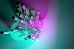 framförande 3d Illustrationer av färgrik belysning, pelaren, kvarteret eller shapre för grafisk design eller tapeter vektor illustrationer