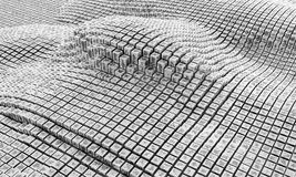 framförande 3d Kuber, kolonner, fyrkanter och rektanglar Arkivfoton