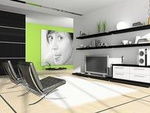 framförande för hemmiljö 3d Stock Illustrationer