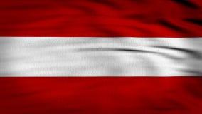 Framförd Österrike flagga 3d stock illustrationer