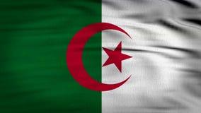 Framförd Algeriet flagga 3d stock illustrationer