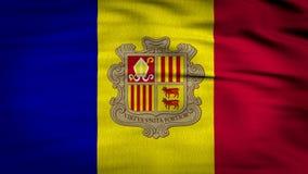 Framförd Andorra flagga 3d royaltyfri illustrationer