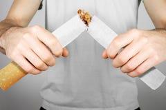 framförd anti bild som 3d avslutas rökning Fotografering för Bildbyråer