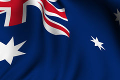 framförd australiensisk flagga Arkivbilder