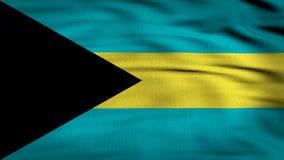 Framförd Bahamas flagga 3d vektor illustrationer