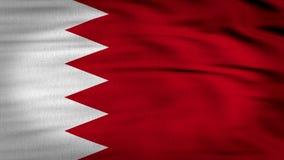 Framförd Bahrain flagga 3d royaltyfri illustrationer