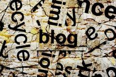 framförd begreppsbild för blog 3d Royaltyfri Bild