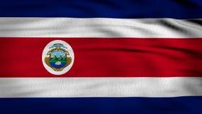 Framförd Costa Rica flagga 3d stock illustrationer