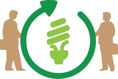 framförd energibild för effektivitet 3d Royaltyfri Bild