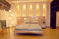 framförd inre blixt för omgivande sovrum 3d Arkivfoton