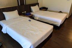 framförd inre blixt för omgivande sovrum 3d royaltyfri foto