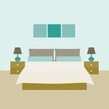 framförd inre blixt för omgivande sovrum 3d Objekt för grafisk design Royaltyfri Fotografi