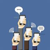 framförd mobil bild för anslutning 3d fotografering för bildbyråer